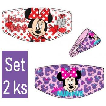 Čelenka do vlasov Minnie Mouse - Disney - set 2 ks