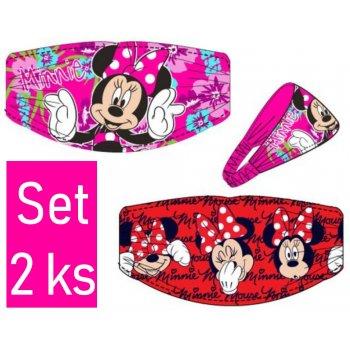 Čelenka do vlasov Minnie Mouse - Disney - set 2ks
