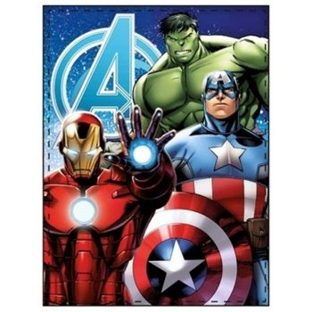 Fleecová deka Avengers - Iron Man, Captain America, Thor