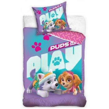 Bavlnené posteľné obliečky Paw Patrol - Pups at Play
