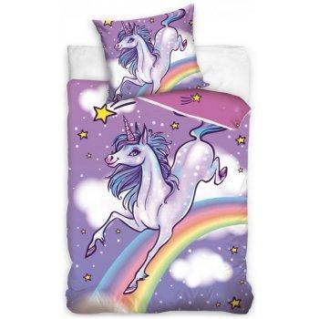 Bavlnené posteľné obliečky Jednorožec a dúha