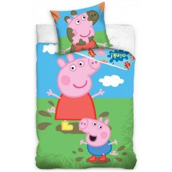 Detské posteľné obliečky Prasiatko Peppa a George