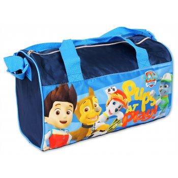 Športová taška Paw Patrol - tm. modrá