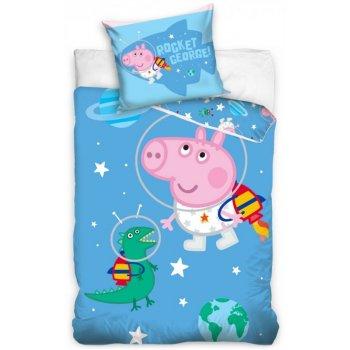 Obliečky do detskej postieľky Prasiatko Peppa - George ve vesmíru