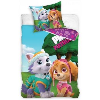 Bavlnené posteľné obliečky Paw Patrol - Everest a Skye