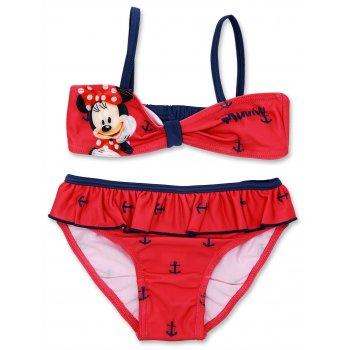 Dievčenské dvojdielne plavky Minnie Mouse - červené