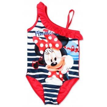 Dievčenské jednodielne plavky Minnie Mouse - červené