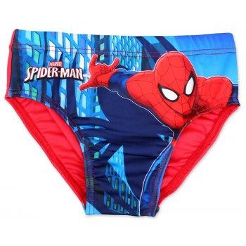 Chlapčenské slipové plavky Spiderman - červené