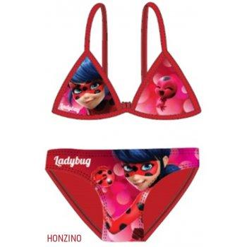 Dievčenské dvojdielne plavky Kúzelná lienka - červené