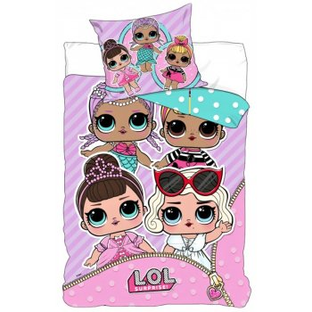 Bavlnené posteľné obliečky L.O.L. Suprise - párty