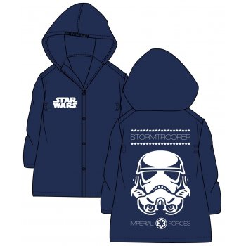 Detská pláštenka Star Wars - Stormtrooper - tm. modrá