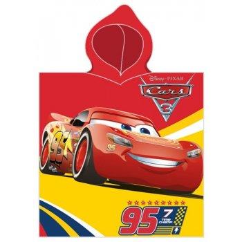 Pončo - osuška s kapucňou Autá - Blesk McQueen 95
