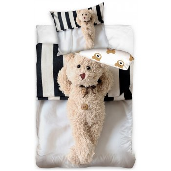 Bavlnené posteľné obliečky Plyšový medvedík