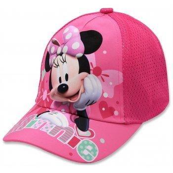 Dievčenská šiltovka Minnie Mouse - Disney - tm. ružová