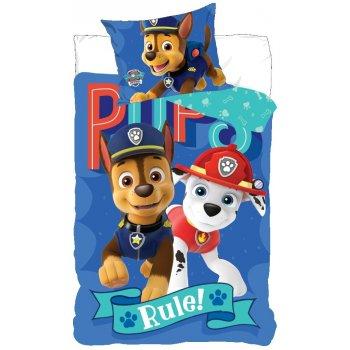 Bavlnené posteľné obliečky Tlapková patrola - Pups Rule!