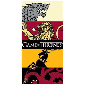 Bavlnená plážová osuška Game of Thrones - Hra o tróny