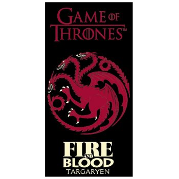 Bavlnená plážová osuška Hra o tróny - Oheň a krv