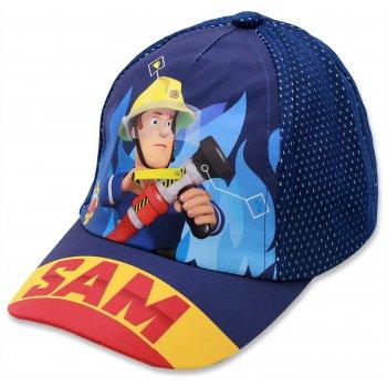 Chlapčenská šiltovka Požiarnik Sam - modrá