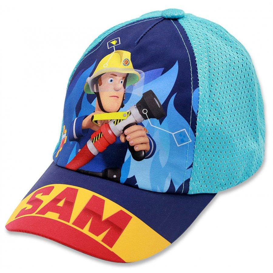 Chlapčenská šiltovka Požiarnik Sam - tyrkysová