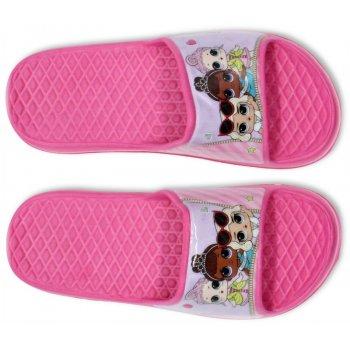 Dievčenské gumové pantofle L.O.L. Surprise - tmavo ružové