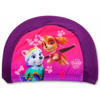 Dievčenská kúpacia čiapka Paw Patrol - fialová