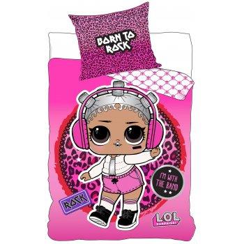 Bavlnené posteľné obliečky L.O.L. Suprise - Born To Rock
