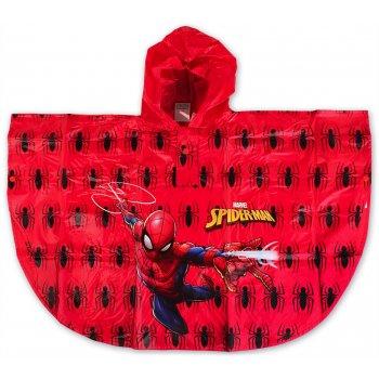 Detská pláštenka / pončo Spiderman - červená