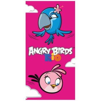 Bavlnená plážová osuška Angry Birds - Perla a Stella