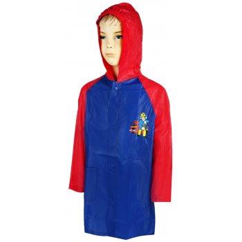 Chlapčenská pláštenka Požiarnik Sam - červeno / modrá