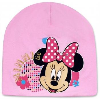 Dievčenská jarná / jesenná čiapka Minnie Mouse - ružová