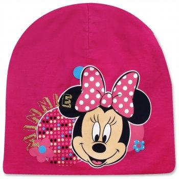 Dievčenská jarná / jesenná čiapka Minnie Mouse - tm. ružová