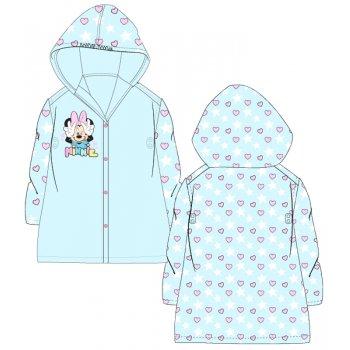 Dievčenská pláštenka Minnie Mouse - srdiečka a hviezdy - modrá