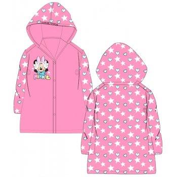 Dievčenská pláštenka Minnie Mouse - srdiečka a hviezdy - ružová