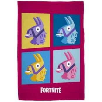 Fleecová deka Fortnite - farebné lamy