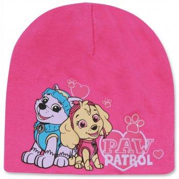 Dievčenská jarná / jesenná čiapka Paw Patrol - ružová