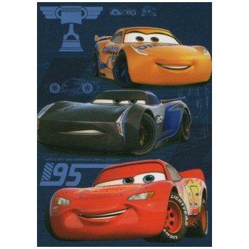 Fleecová deka Autá 3 - Blesk McQueen a pretekári