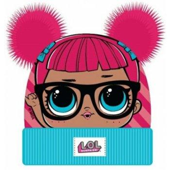 Dievčenská teplá čiapka L.O.L. Surprise s dvoma ružovými brmbolcami