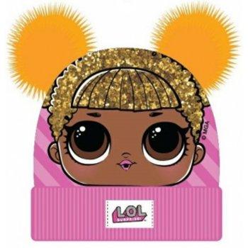 Dievčenská zimná čiapka L.O.L. Surprise s dvoma žltými brmbolcami