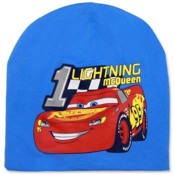 Chlapčenská jarná / jesenná čiapka Auta - Blesk McQueen - sv. modrá