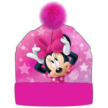 Dievčenská zimná čiapka s brmbolcom Minnie Mouse - Disney