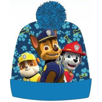 Chlapčenská teplá čiapka s brmbolcom Paw Patrol - modrá