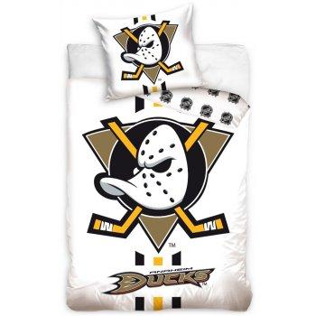 Hokejové posteľné obliečky NHL Anaheim Mighty Ducks - biele