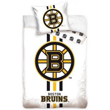 Hokejové posteľné obliečky NHL Boston Bruins - biele