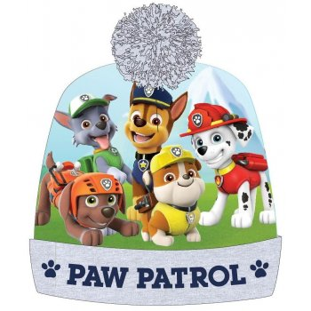Dětská zimná čiapka s brmbolcom Paw Patrol - šedá