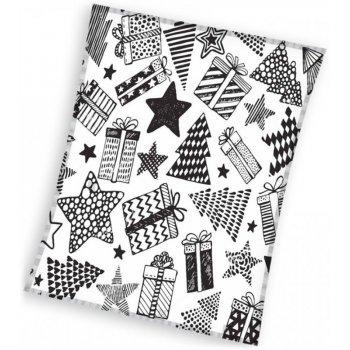 Vianočná fleecová deka - darčeky