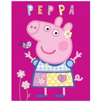 Detská fleecová deka Prasiatko Peppa - modelka