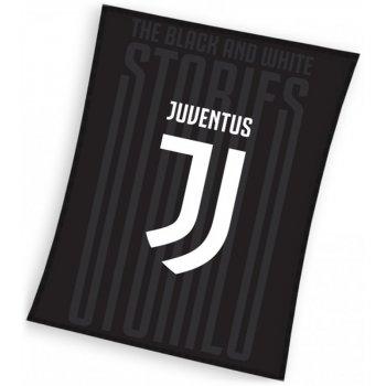 Veľká fleecová deka Juventus FC - čierna