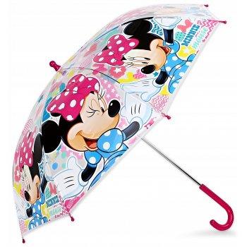 Dievčenský priehľadný dáždnik Minnie Mouse - Disney