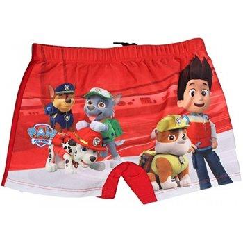 Chlapčenské plavky boxerky Paw Patrol - červené