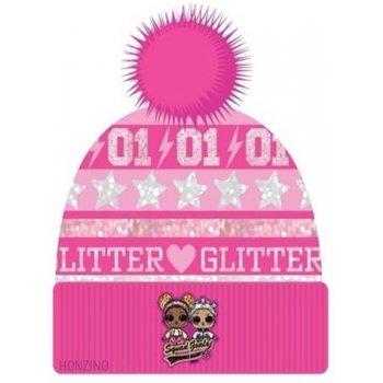 Dievčenská zimná čiapka s brmbolcom L.O.L. Surprise - ružová